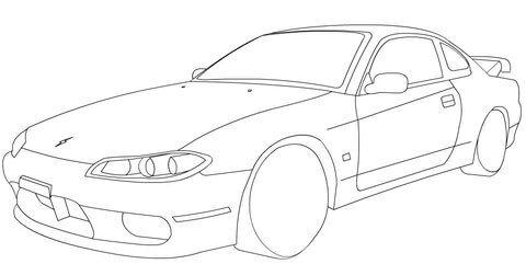 Nissan Silvia S15 Coloring Page Nissan Silvia Nissan Nissan