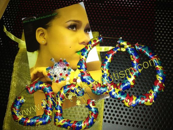 Support Autism Awareness in fashion forward one of a kind designs! only at www.MyLoveForAutism.com