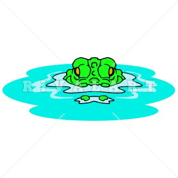 Pics For > Clipart Alligator In Water | Swim Team ...
