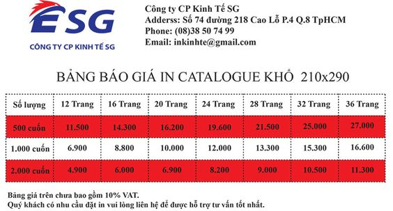 In catalogue va in brochure khac nhau nhu the nao