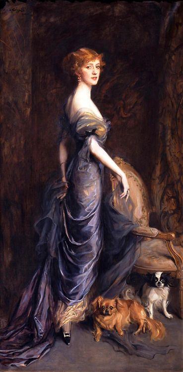 Mrs. George Owen Sandys - 1915 - by Philip Alexius de László (Hungarian, 1869-1937):