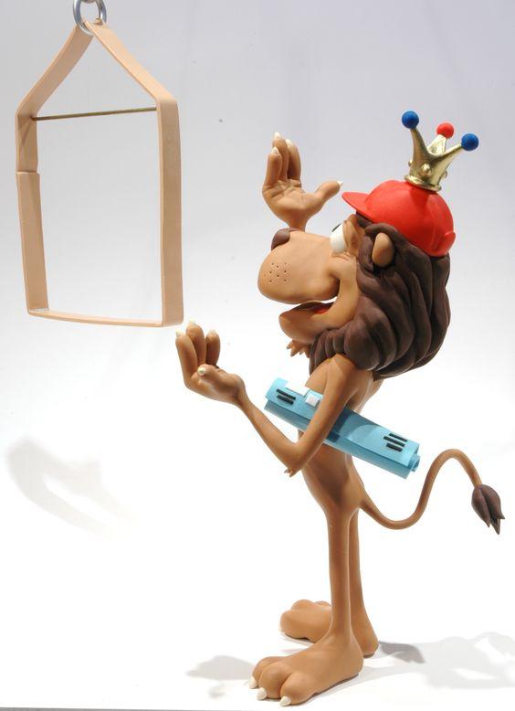 Gery Lebecq: www.folioart.co.uk/illustration/folio/artists/illustrator/gery-lebecq - Agency: www.folioart.co.uk - #illustration #art #3Dmodelling #lion