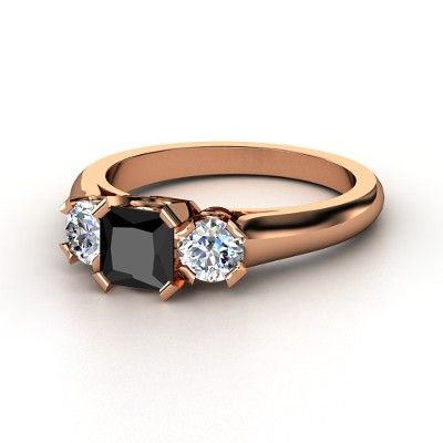 my engagement ring in rose gold