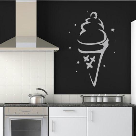 Ice Cream Cone Kitchen Wall Sticker. http://walliv.com/ice-cream-cone-kitchen-wall-sticker-decal