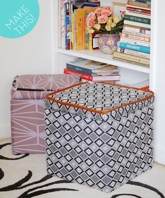 ottomans storage and how to make on pinterest