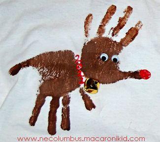 Rudolph Handprint Shirts from Macaroni Kid!