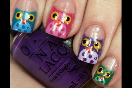These owl nails are so cool