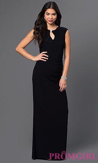 High Neck Keyhole V-Back Formal Gown at PromGirl.com