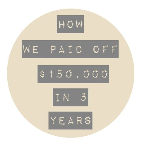 Becoming Debt Free - How We Paid Off $150,000 in 5 Years www.thenester.com