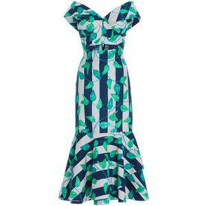 Johanna Ortiz Belice Fluted Cotton Sateen Dress