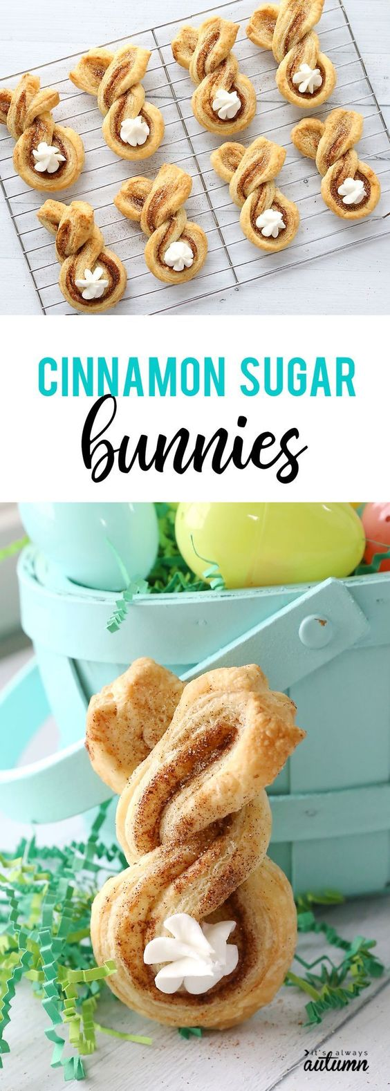 Cinnamon sugar Easter bunny twists {fun + easy Easter treat} - It's Always Autumn