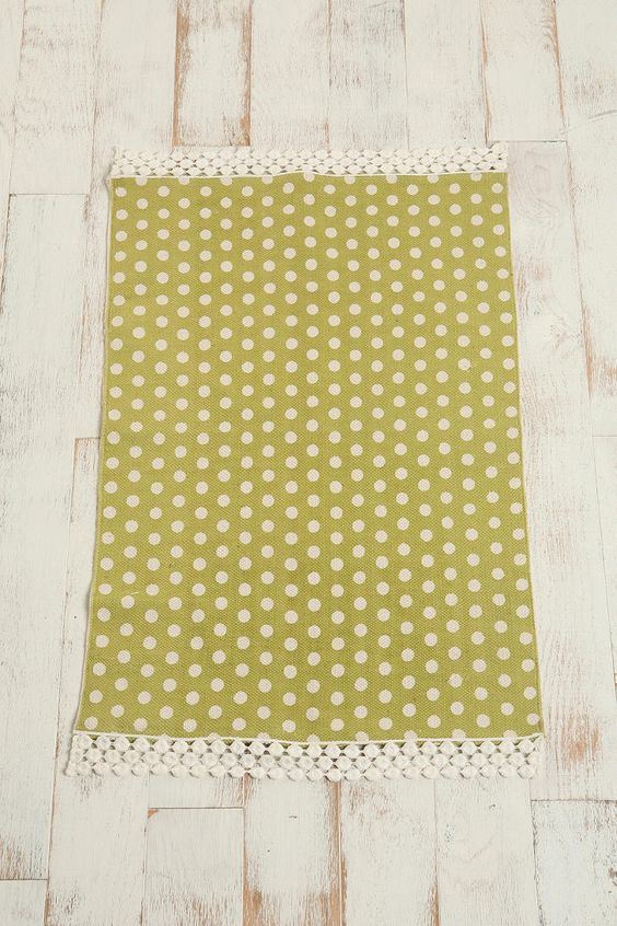 2x3 Polka Dot Printed Rug Urban Outfitters Kitchen Rug