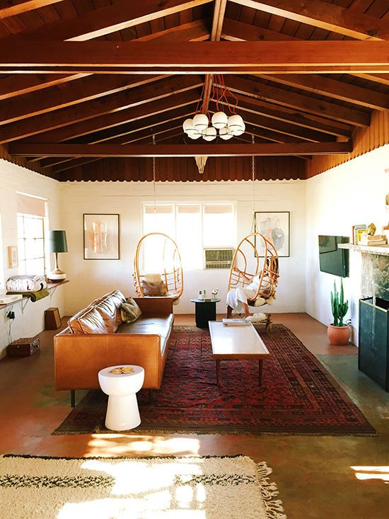 California Eclectic effortless decor Anthropologie style home; Joshua Tree House; mid-century modern decor; hipster decor
