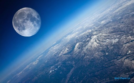 Earth And The Moon Seen From Stratosphere. Composite. Credit: John Harper. via Milky way scientists (Facebook)