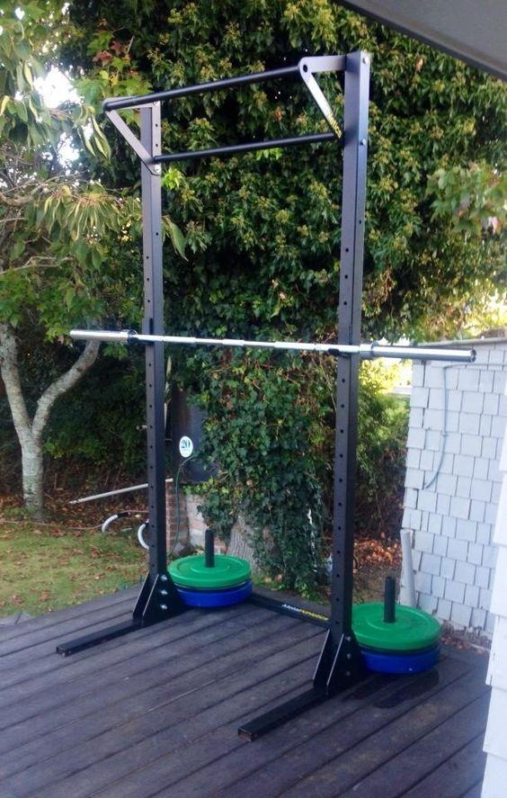 Free standing squat rack with pullup bar our racks for Homemade pull up bar plans
