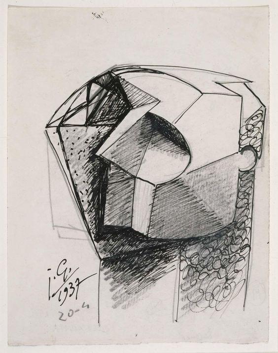 Julio González – Tête bloc (Cabeza bloque), 1937
