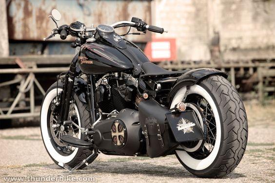 #Harley-Davidson Softail Cross Bones by #Thunderbike