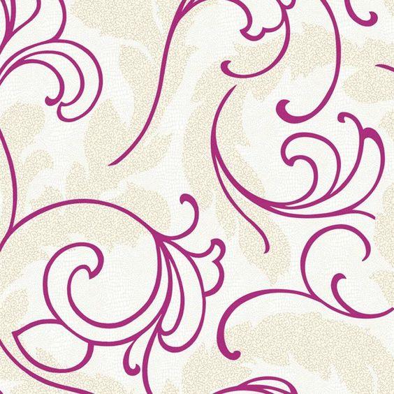 York Wallcoverings Wallpap-Her Serpentine Scroll Wallpaper
