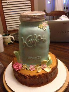 Cake Jar Designs : mason jar shaped cake - Google Search Cake Ideas ...