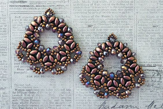 Linda's Crafty Inspirations: YouTube Video Tutorial - Alessia's Fan Earrings