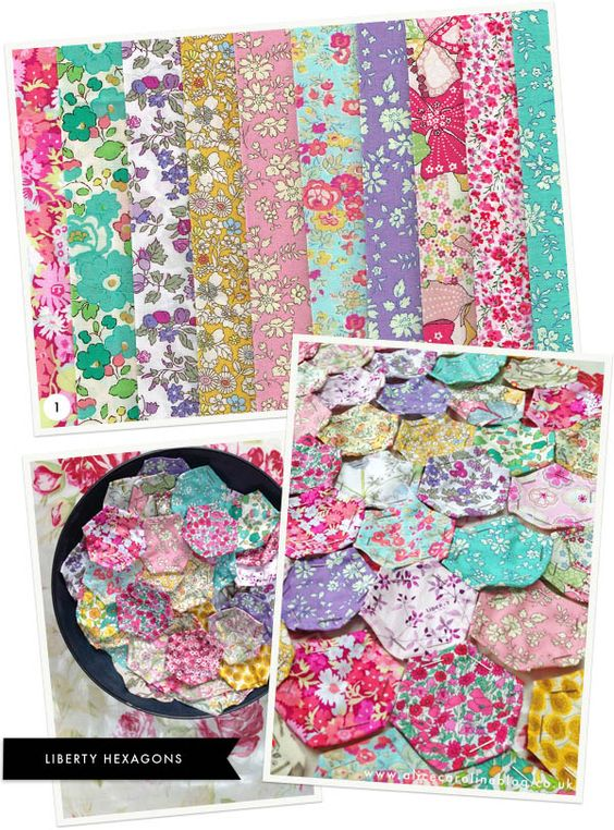 Liberty fabric hexagons