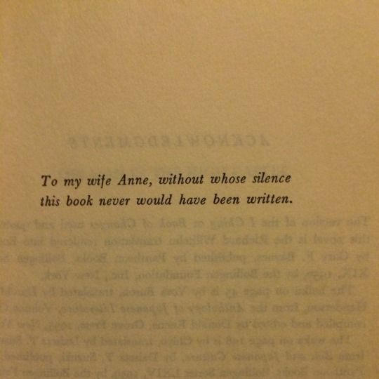 Philip K. Dick's dedication of The Man In The High Castle