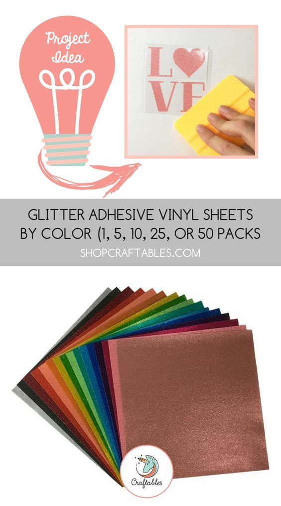 Glitter Vinyl Sheets For Cricut Silhouette Translucent Permanent Adhesive Vinyl By Craftables Adhesive Vinyl Sheets Adhesive Vinyl Glitter Vinyl