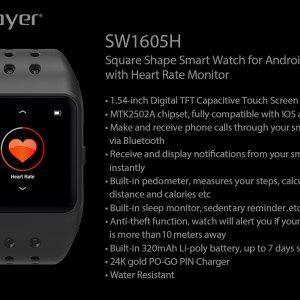 Oplayer Smart Watch Bluetooth 4.0 Heart Rate Monitor.
