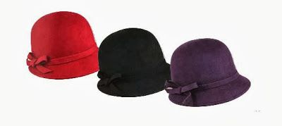 Slanted Bucket Hat, in Purple or Rust, $28.95, from Jeanne Simmons