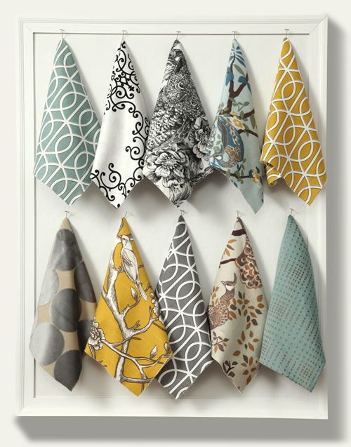 Dwell Studio: Eclectic Modern - this would be a great way to show customers the types of fabrics you have available!