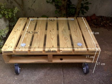 Table from pallet leftover | 1001 Pallets ideas ! | Scoop.it