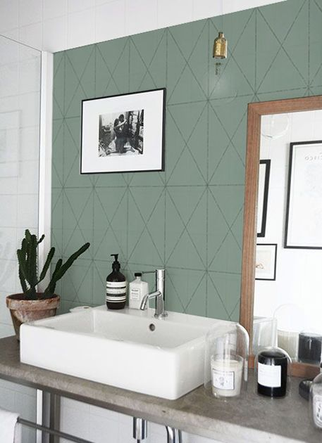 les 25 meilleures ides de la catgorie salle de bains papier peint sur pinterest demi fond dcran papier peint de salle de bain et papier peint pour - Tapisserie Salle De Bain