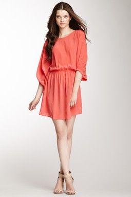 Pippa Solid Silk Dress