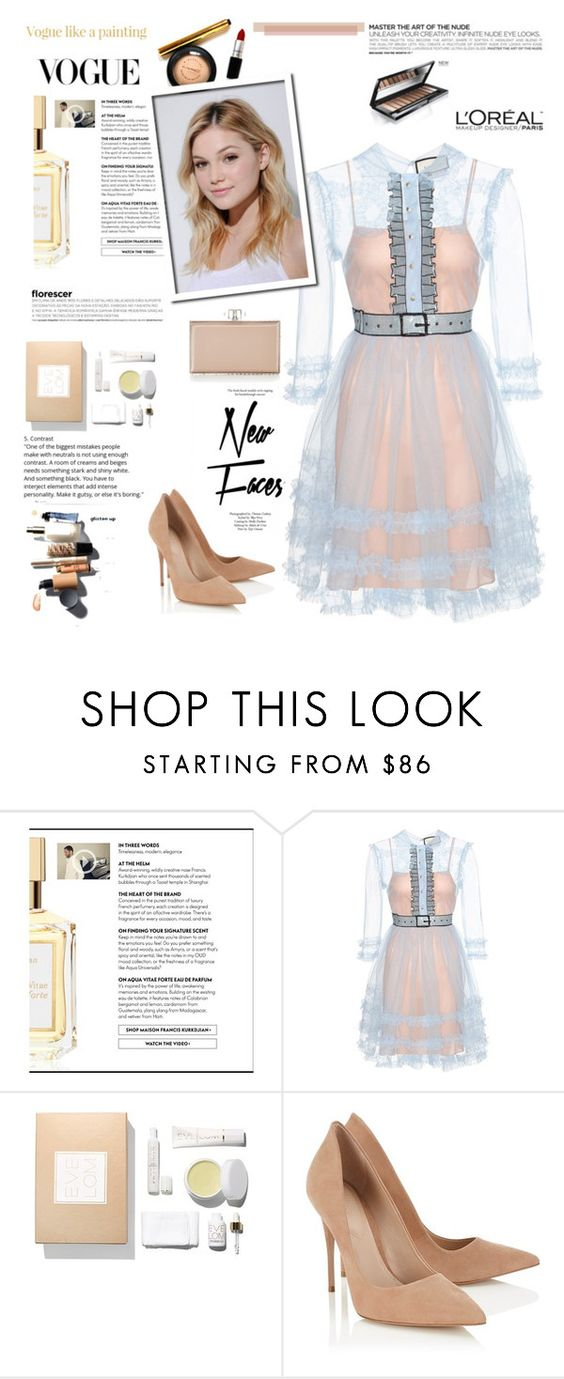 """""""New Faces"""" by joannahdawn ❤ liked on Polyvore featuring Topshop, Gucci, Eve Lom, Lipsy, Neutrogena and Judith Leiber"""