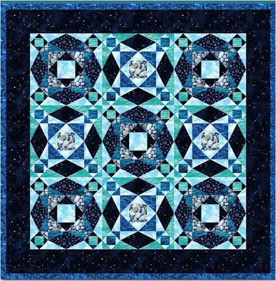 """FREE PATTERN for """"Storm at Sea"""" quilt block & examples of how you can use this design.  *off to hunt thru stash! must make these!*"""