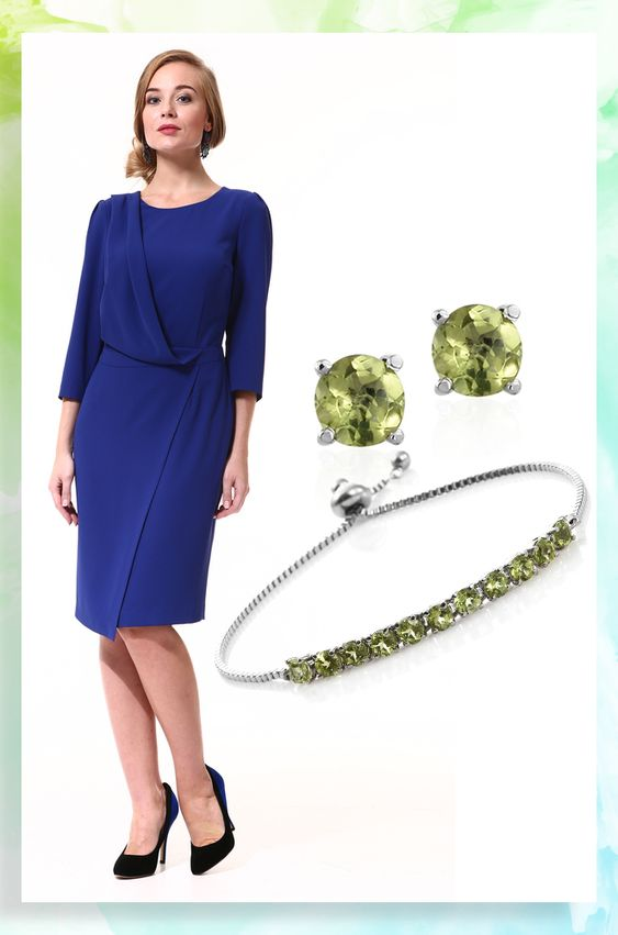 Peridot jewelry for office.
