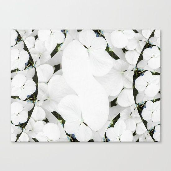 Hydrangeas - White & Blue Canvas Print by Moonshine Paradise #society6 #hydrangeas #flowers #nature #art