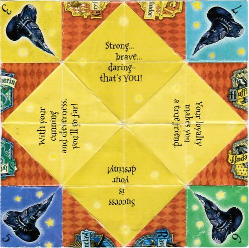 Fortune Teller Origami Sayings