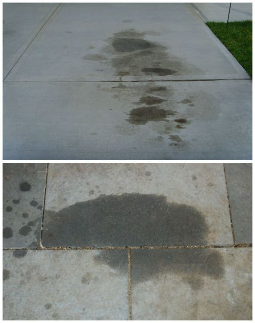 5 Foolproof Ways To Remove Grease And Oil Stains From Concrete Cleaning Hacks House Cleaning Tips Cleaning Painted Walls