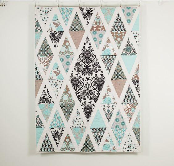 Love the fabric. Birch Farm by Joel Dewberry. Diamond Quilt Patterns to Dazzle