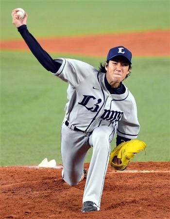 Takayuki Kishi holds the Marines to 2 earned runs over 8 strong frames, whiffing 8 to pick up his 9th win of the year at QVC Marine Field on Tuesday, August 7, 2012.