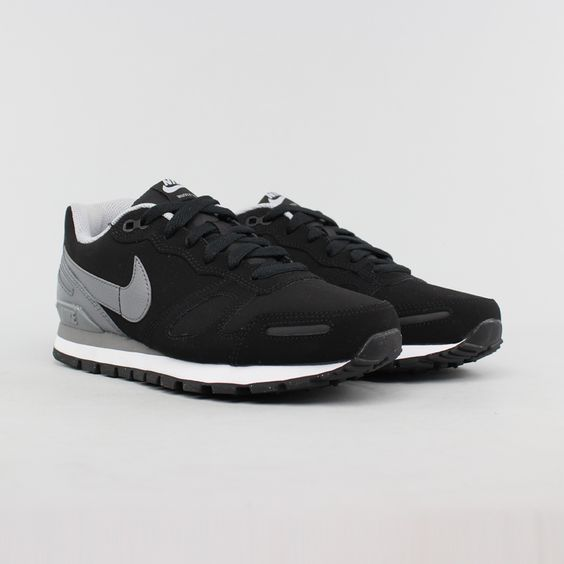 Nike Air Waffle Trainer Leather Black/Cool