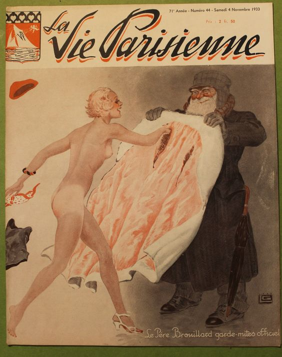 Georges Léonnec (1881 – 1940). La Vie Parisienne, 4 Novembre 1933. [Pinned 25-v-2016]