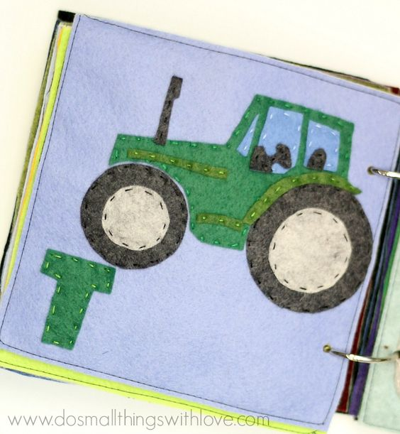 t is for tractor felt alphabet book pattern