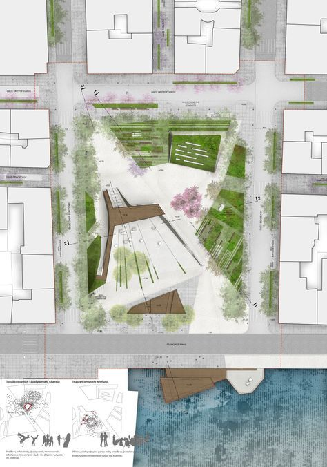 Plan Of The Square With Optimal Health Often Comes Clarity Of Thought Click Now To Landscape Architecture Plan Landscape Architecture Portfolio Plaza Design