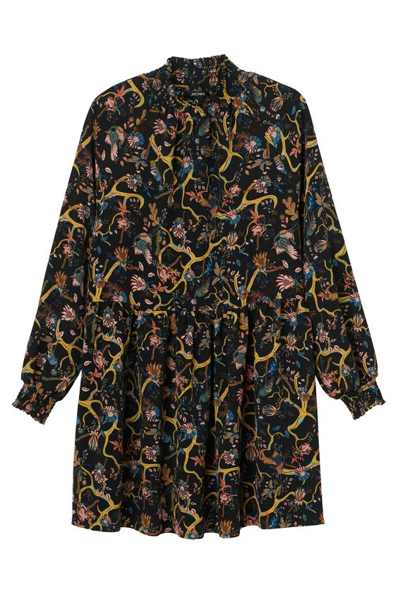 Monki Image 1 of Ruby dress in Yellow Dark