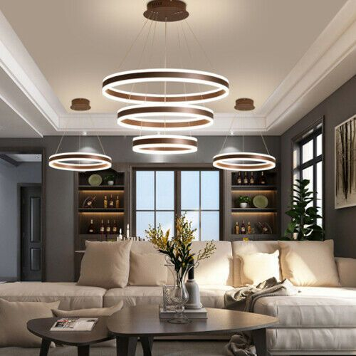 Acrylic Circle Ceiling Led Light Pendant Light Hanging Light Fixture Accent Lighting Living Room Ceiling Lights Living Room Led Living Room Lights