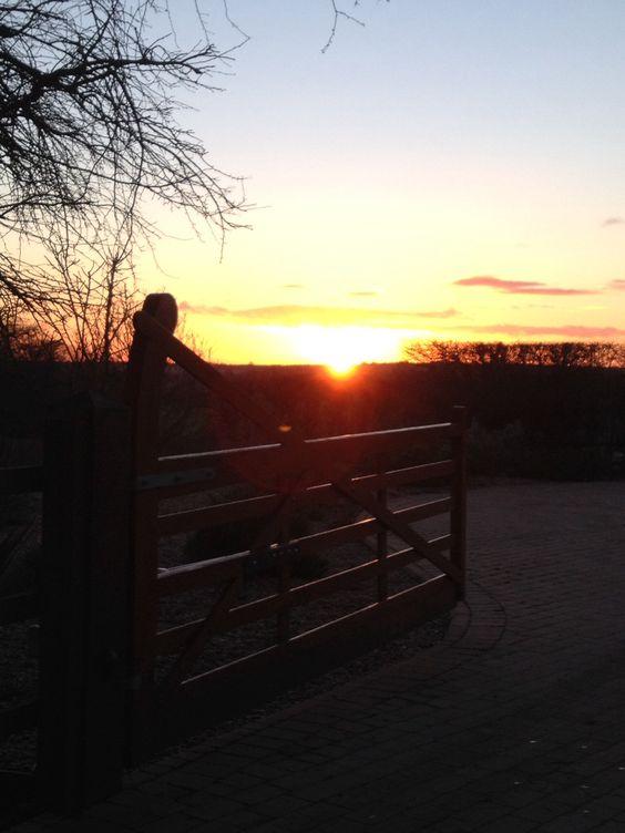 Sunset in Codicote