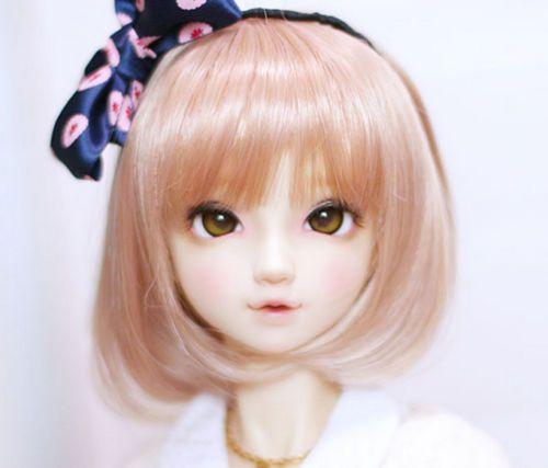 1//4 7-8 MSD Wig Dal BJD SD DOD DOC LUTS supper Dollfie Doll wigs brown