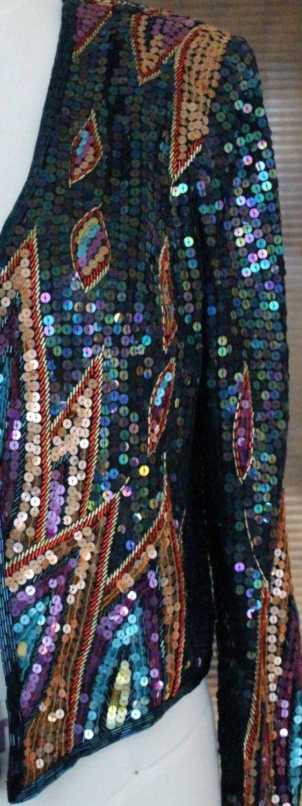 Jack Bryan - Veste 'Disco' - Sequins Multicolore - Années 70